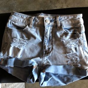 Juniors denim shorts